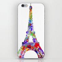 eiffel tower iPhone & iPod Skins featuring Eiffel Tower  by ron ashkenazi