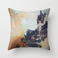 castlevania Throw Pillows featuring Castlevania by Esco