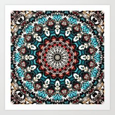 Abstract Shapes Mandala Art Print