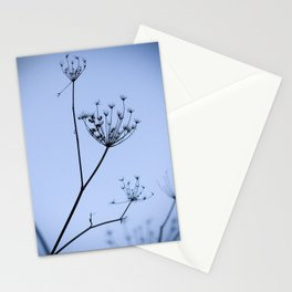 Silhouette on blue Stationery Cards
