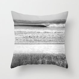 Wave and Icy Wall Throw Pillow