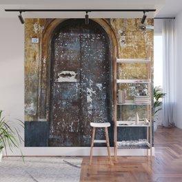 Old Sicilian door of Catania Wall Mural