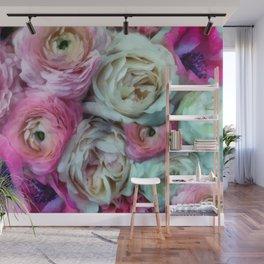 Romantic flowers I Wall Mural