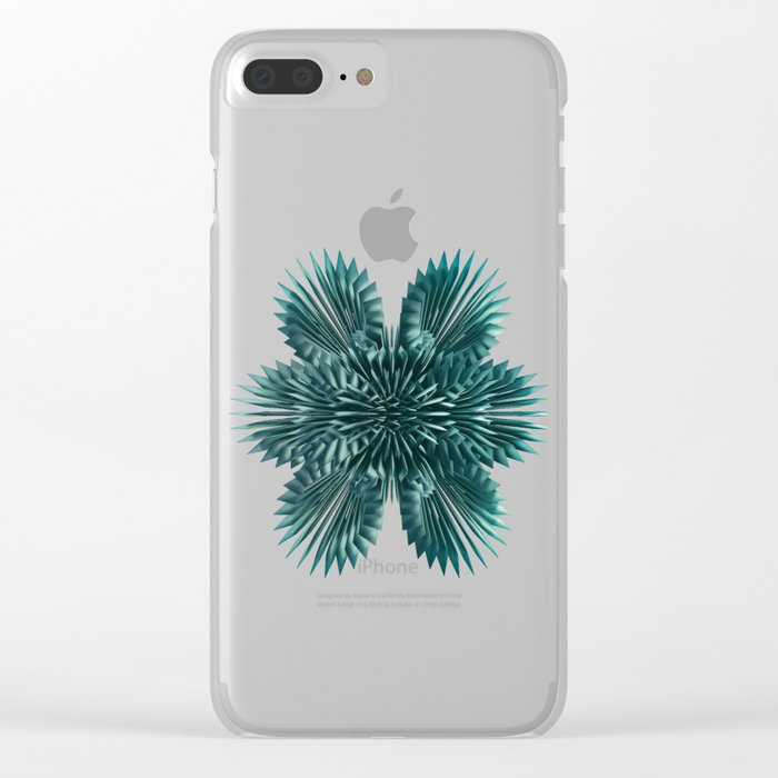 Conglomerate Clear iPhone Case