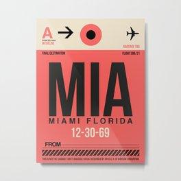 MIA Miami Luggage Tag 1 Metal Print