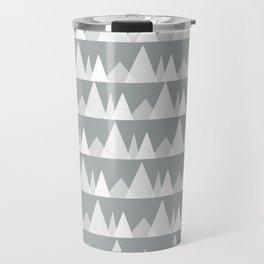 Scandinavian Trees   gray Travel Mug
