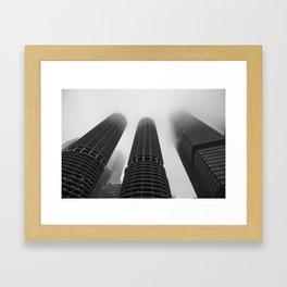 Foggy Chicago Morning 006 Framed Art Print