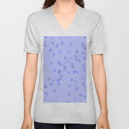 Light blue puzzle Unisex V-Neck