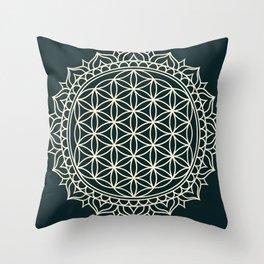 Flower of Life Throw Pillow