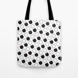 Polka Cat - Black Tote Bag