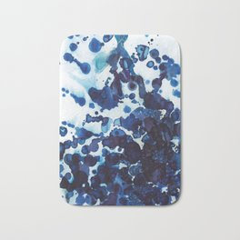 Big ocean waves crashing on the rocks. Bath Mat