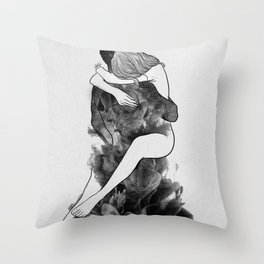 I find peace in your hug (E). Throw Pillow