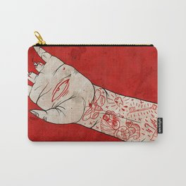bite the hand. Carry-All Pouch