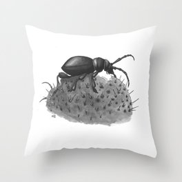 Inktobober 2016: Cactus Longhorn Beetle Throw Pillow