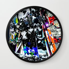 A Mess of Color Wall Clock