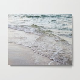 Serene Waves Metal Print