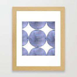 Inner Circle blue shade Framed Art Print