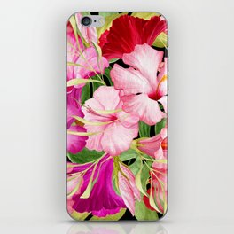 Tropical Power Flowers iPhone Skin