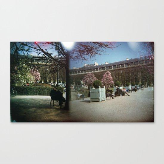 Jardin du Palais Royal, Paris Canvas Print