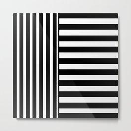 Black + White Stripe III Metal Print