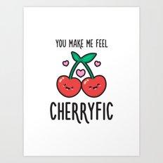 Cherryfic! Art Print