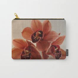 A Peach Orchid Pyramid Carry-All Pouch