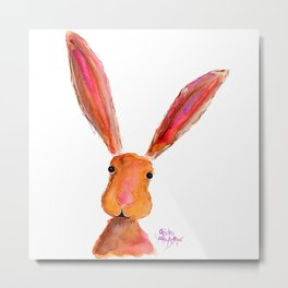 Happy Hare ' LoLLiPoP ' by Shirley MacArthur Metal Print