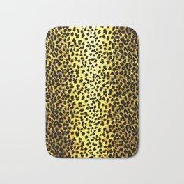 Leopard Print Animal Wallpaper Bath Mat