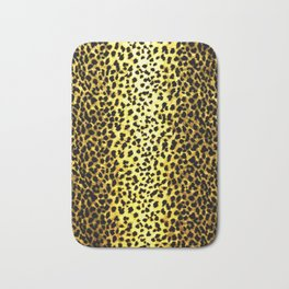 Leopard Print Animal Wallpaper Bath Mat