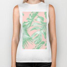 Island Love Seashell Pink Coral + Green Biker Tank