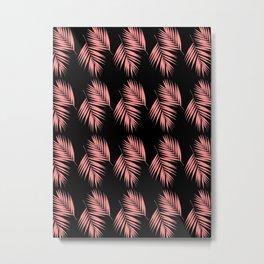 Palm Leaves Pattern #16 #LightCoral #decor #art #society6 Metal Print