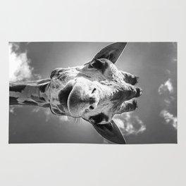 Cool Giraffe Black and White Rug