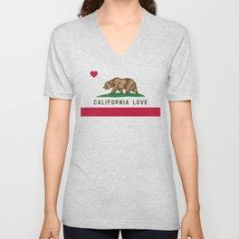 California Love Flag Unisex V-Neck