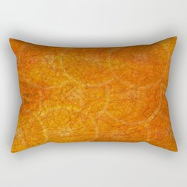 orange abstract background Rectangular Pillow