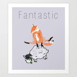Fantastic Fox Art Print