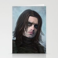 winter soldier Stationery Cards featuring Winter Soldier by Slugette