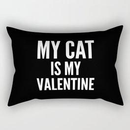 MY CAT IS MY VALENTINE (Black & White) Rectangular Pillow