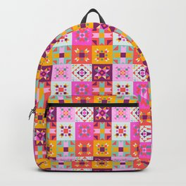 Maroccan tiles pattern with pink no4 Backpack