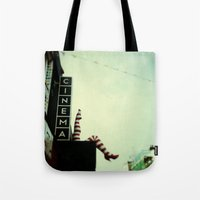 cinema Tote Bags featuring Cinema by Cassia Beck