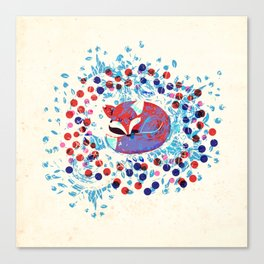 Berry fox - nostalgic Canvas Print