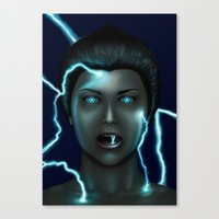 lightning Canvas Prints featuring Lightning by Egberto Fuentes