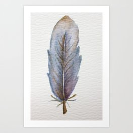 Blue Feather Art Print