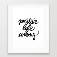 positive Framed Art Prints featuring POSITIVE by Henrique Nobrega