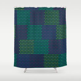 Polka Dot Patchwork Shower Curtain