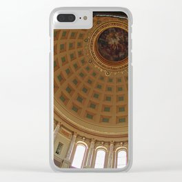 The rotunda of the Capitol building in Madison, Wisconsin Clear iPhone Case