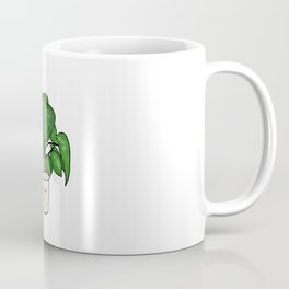 Cute plant illustration in flowerpot Coffee Mug
