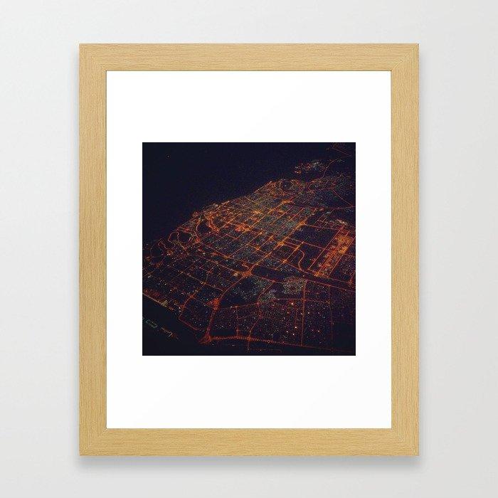desert lights Framed Art Print
