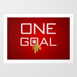 One Goal Art Print