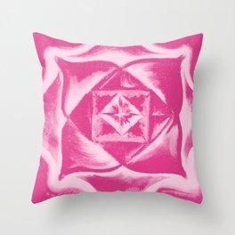 Four Directions - Balancing square - Pink Throw Pillow