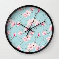 magnolia Wall Clocks featuring Magnolia by EclipseLio